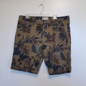 RL Denim & Supply Brown Tropical Shorts Size 36